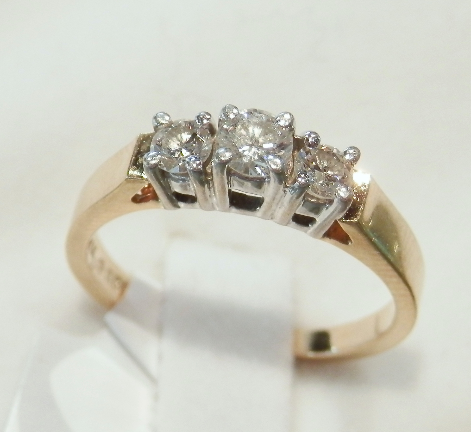 stone diamond cut present ring ladies future rings three product and emerald wedding past